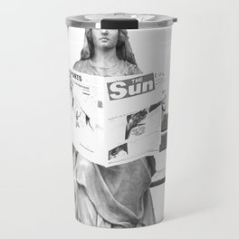 Lady Justice - Is she blind? Travel Mug