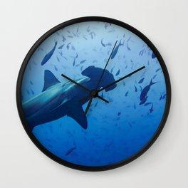 Hammerhead shark portrait Wall Clock