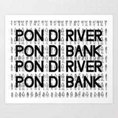Pon di River B&W Art Print
