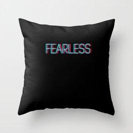 Fearless | Digital Art Throw Pillow