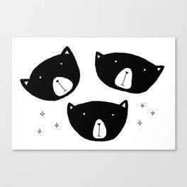 Black Bears Canvas Print