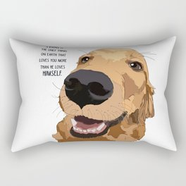 Golden Retriever Love Rectangular Pillow