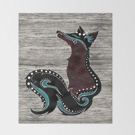 Bohemian Zorro Fox (left) Throw Blanket