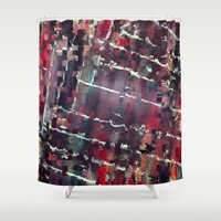 code Shower Curtains featuring Code by MonsterBrown