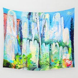 Alice Bailly Foutain in Rome Wall Tapestry