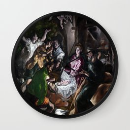 The Adoration of the Shepherds by El Greco (1610) Wall Clock
