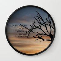 literary Wall Clocks featuring Waiting for Godot, Samuel Beckett – literary art by pennyprintables
