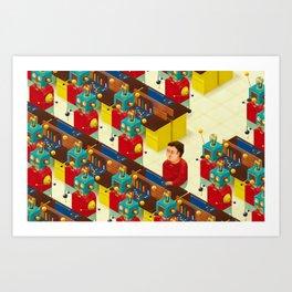 Robot Revolution Art Print