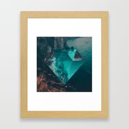 The Sea's Diamond Framed Art Print