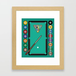 Billiards Table and Equipment Framed Art Print