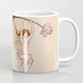 """Three Spirits Mad With Joy"" Art by Warwick Goble Coffee Mug"
