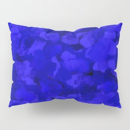 Rich Cobalt Blue Abstract Pillow Sham