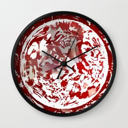 Red Dawn Wall Clock