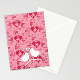 """all you need is love"" Stationery Cards"