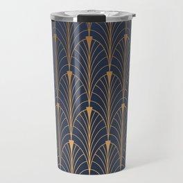 gold and blue Travel Mug