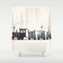 little nature train Shower Curtain