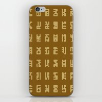 sci fi iPhone & iPod Skins featuring Sci-Fi Glyphs by Lestaret