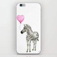 Zebra with Balloon Animal Watercolor Whimsical Animals iPhone & iPod Skin