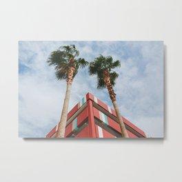 Las Vegas Palm Trees and Vintage Design Metal Print