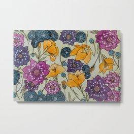 Bright Florals Metal Print