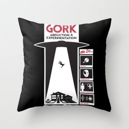 Gork Abduction & Experimentation Co. Throw Pillow