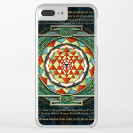 Maha Lakshmi (Laxmi) Mantra & Shri Yantra - Wealth Giving Clear iPhone Case