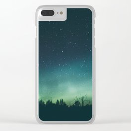 Aurora Borealis II Clear iPhone Case