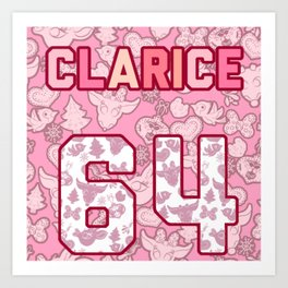 Clarice Jersey Art Print