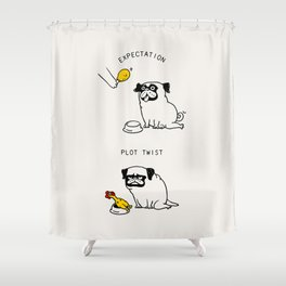 Expectation and Plot Twist Shower Curtain