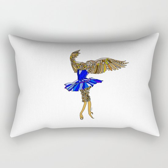 Owl Ballerina Tutu Rectangular Pillow