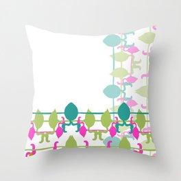 Flamingo bright 2 Throw Pillow