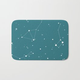 Emerald Night Sky Bath Mat