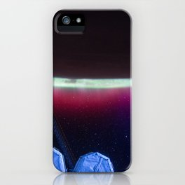 234. Aurora's Colorful Veil Over Earth iPhone Case