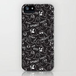 Ghosties in Black iPhone Case
