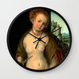 "Lucas Cranach the Elder ""Lucretia"" 1. (1525 - 1530) Wall Clock"