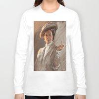downton abbey Long Sleeve T-shirts featuring Downton FU by Wanker & Wanker