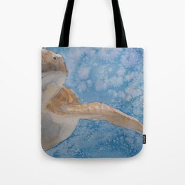 Turtle Fly By Tote Bag