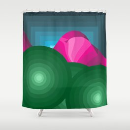 The Hills Are Breathin' Shower Curtain