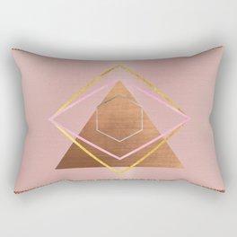 Bronze glitter glam Rectangular Pillow