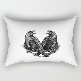 Odins Ravens Huginn and Muninn Rectangular Pillow