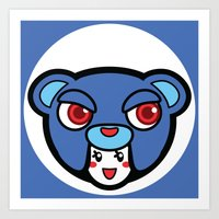 pagan Art Prints featuring Pagan Blue by Pagan Holladay