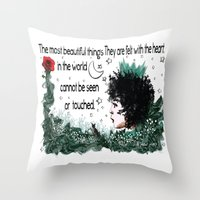 le petit prince Throw Pillows featuring Le Petit Prince by Cindys