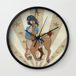 Carousel Girl Wall Clock