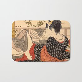 Lovers in an Upstairs Room Bath Mat
