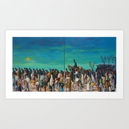 "African American Classical Masterpiece ""Mississippi River - Trail of Tears No. 2"" by Benny Andrews Art Print"