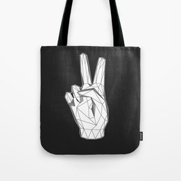 Geometric Peace sign Tote Bag