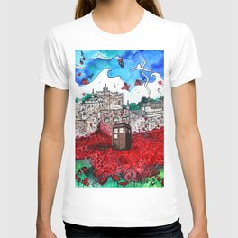 TARDIS IN POPPIES T-shirt