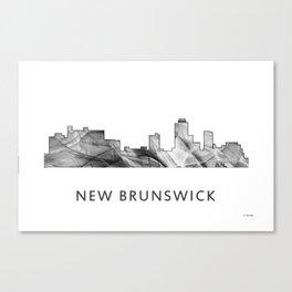 New Brunswick, New Jersey Skyline WB BW Canvas Print