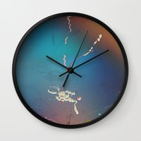 fat Wall Clocks featuring Fat by Nigel Evan Dennis