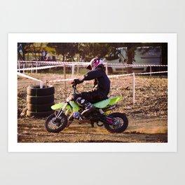Motorbike cross racing Art Print